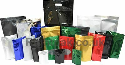 Heat Sealable Stand Up Pouches With Zip Lock Coffee, Supplements, Pet Food Pack
