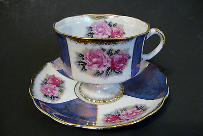 Sterling China Made In Japan Tea Cup and Saucer *Rose* - Gold Trim