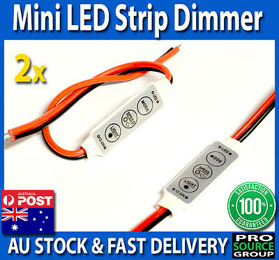 Mini Dimmer Controller for LED Strip Light 5050 3528 SMD with Fade, Speed, Flash