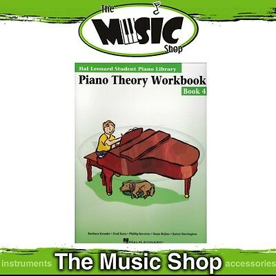 New HLSPL Piano Theory Workbook Book 4 - Hal Leonard Student Piano Library