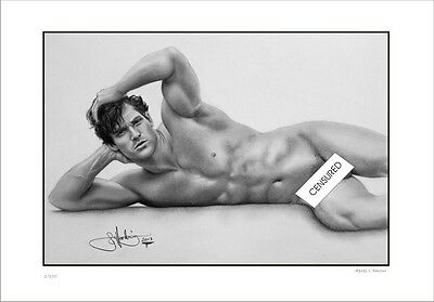 Male   Nude Study      Apres  L'amour    Gay  Interest          Limited Edition