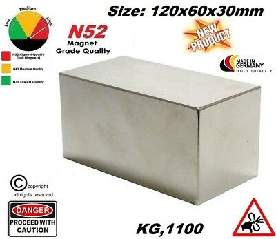 MAGNET-KILLER BLOCK N52 HIGH PERFORMANCE KG1100 (reale)