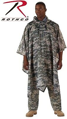 Acu Digital Camouflage Army Rip-Stop Tactical Military Hooded Rain Poncho 4658