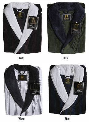 Brand New With Tag Mens Jacquard Velour Egyptian Cotton Bathrobe Bath Robe