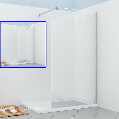 Walk in shower enclosure wet room screen panel 8mm easy clean glass