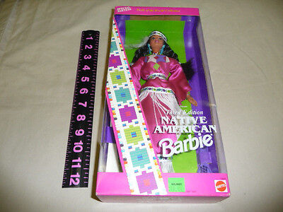 Native American Indian Barbie Doll 1994 Dolls of World Collection Third Ed new