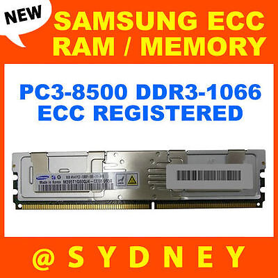 New Samsung 8Gb Pc3-8500R Ddr3-1066 Ecc Reg Registered Rdimm #m393B1K70Chd-Cf8