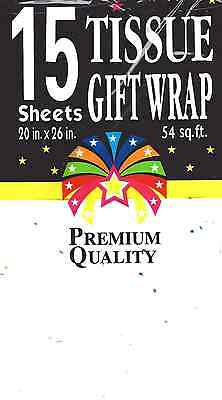 1-Premium Gift Tissue~ Sequin Sparkle~Gift Wrapping & Crafts~15-Sheets 20 x 26