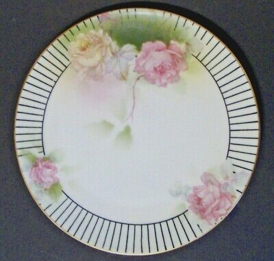 Prussia Royal Rudolstadt Hand Painted Salad Plate *Roses* 8 1/2""