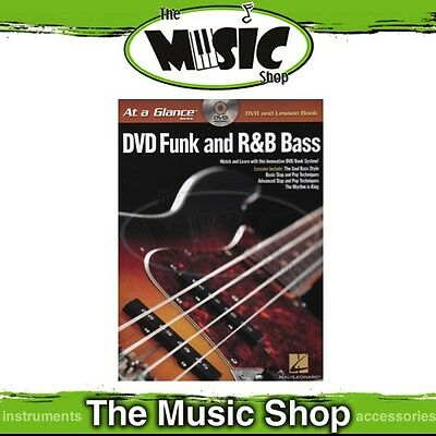 New At A Glance: DVD Funk & R&B Bass with Lesson Book - Guitar Tuition