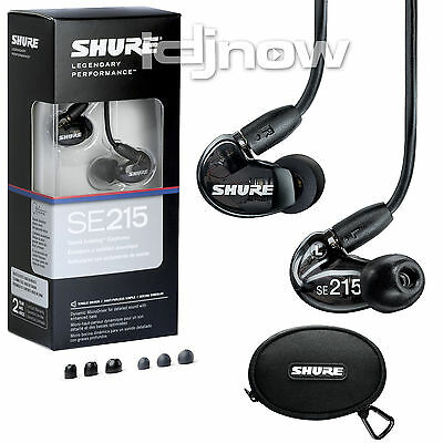 Shure SE215 (Black) Sound Isolating In-Ear DJ Monitoring Headphones/Earphones