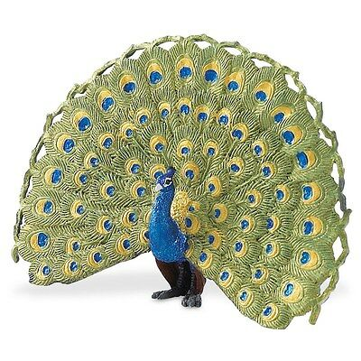 Wings Of The World Peacock 2008 Safari Ltd Asian Wildlife New Indian Peafowl