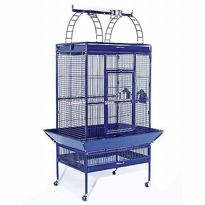 Select Parrot Cage w/Playpen-Cobalt-available in 7 other colors - 3151BLUE
