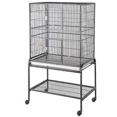 """HQ Black Aviary Flight Cage with Stand, 32"""" L X 21"""" W X 60"""" H"""