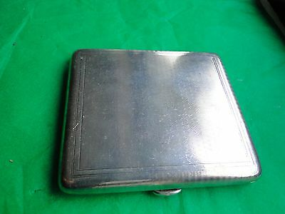 Cigarette Case Art Deco Sterling Silver Engine Turn Birmingham 1942 Fully Marked