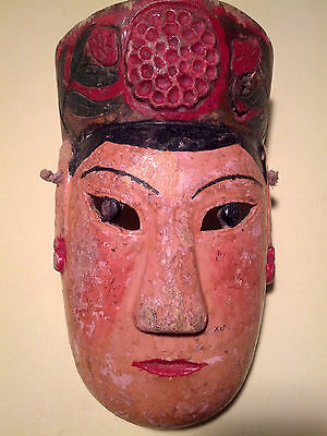 Antique Maonan Nuo Chinese Mask used in Agricultural Dances ca1930s SW China