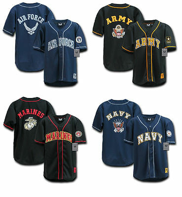 US Military Baseball Jerseys Marine Corps Navy US Air Force or Army Rapdom R29