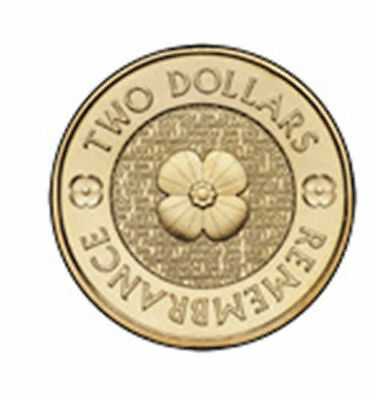 Gold poppy Anzac Remembrance 2012- 2 dollar coins