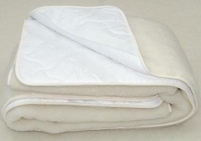 Merino Wool Underblanket 100% Natural Cot Bed - Mattress Topper