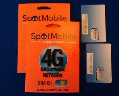 Spot Mobile Sim Card With 39.99 Plan Included No Activation Fee