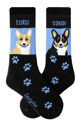 Corgi Socks Lightweight Cotton Crew Stretch Egyptian Made