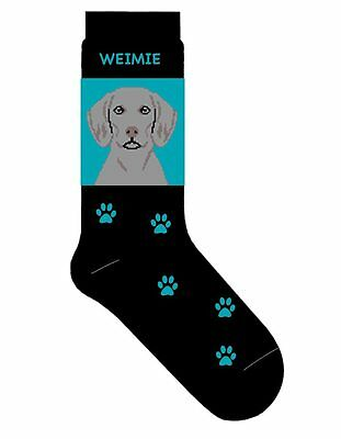 Weimaraner Socks Lightweight Cotton Crew Stretch