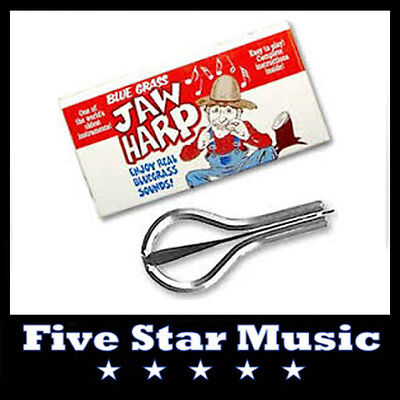 Trophy Blue Grass Jaw Harp - New in Box - Made in USA