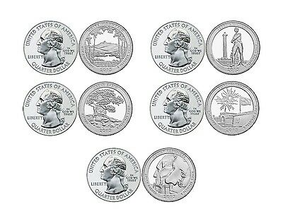 2013 National Park Quarters P&d Complete Set 10 Coin *in Stock!!!*