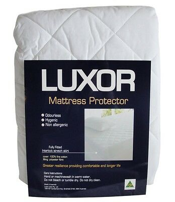 Australian Made 100% Cotton Cover Fully Fitted Mattress Protector  All Bed Sizes