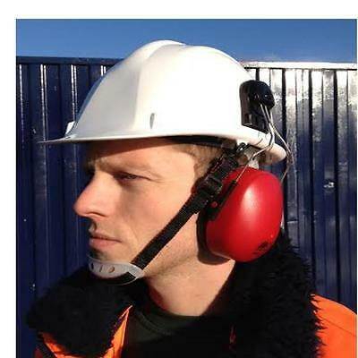 Portwest Hard Hat With Ear Defenders and Chin Strap Helmet Clip on Protectors