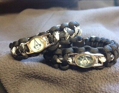 Assassin's Creed 4 Paracord Bracelet with Shoelace Charm