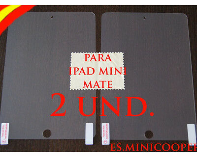 2 X PROTECTOR de pantalla MATE ANTI HUELLAS para IPAD MINI Screen Guard