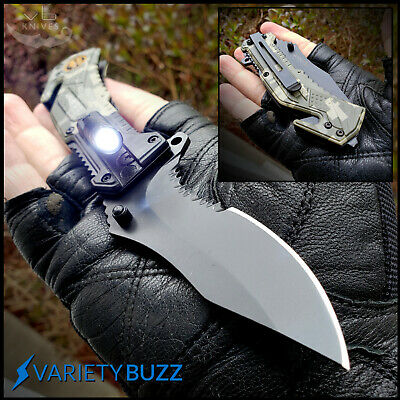 Spring Assisted Knife - US Army Camo Tactical Blade