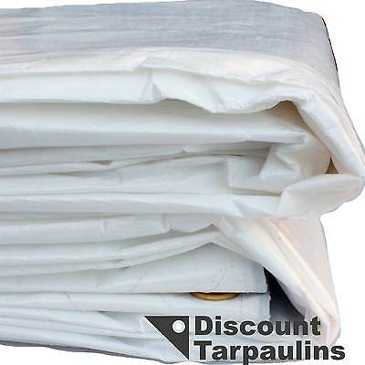 White Tarpaulin - Extra Heavy Duty Tarp - Great for Weddings Parties Functions