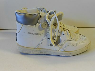 NOS '80's Converse JR. Startech White Leather Athletic Shoes Size 4 1/2 Youth!