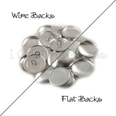 """Size 20 (1/2"""" - 12mm) Cover Buttons - Flat Back / Wire Back - Choose Quantity"""