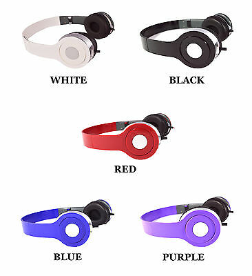 DJ Style Stereo Over Ear Headphones w Nice Quality Sound for 3.5mm Jack & iPhone