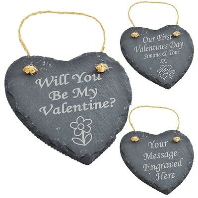Personalised Engraved Slate Valentine's Gifts Valentine Gifts  Valentines Gifts