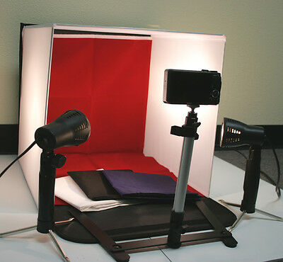 """New 50w Photo Studio 16"""" Photography Lighting Tent Kit Backdrop Cube In A Box"""