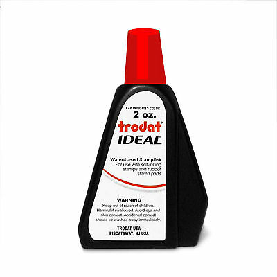 2 oz!!! RED Trodat / Idea Rubber Stamp Refill Ink (for stamps & stamp pads)