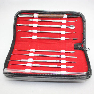 NEW Dental Stainless Steel Kit Wax Carving Tool Set Lab Instrument Sale
