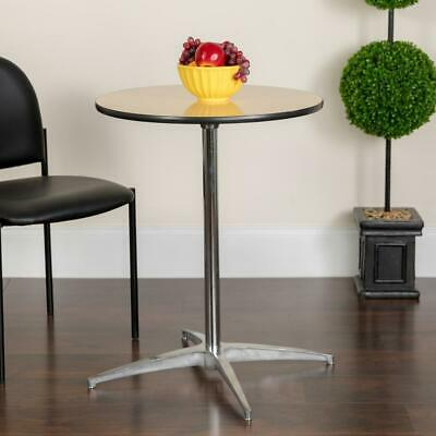 Flash Furniture 36'' Round Wood Cocktail Table with 30'' and 42'' Columns
