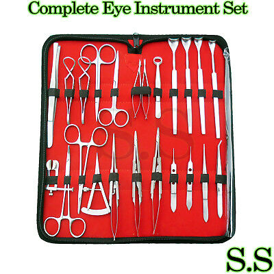 Complete Eye Instrument Set of 76 Pieces Instrument Kit With Case