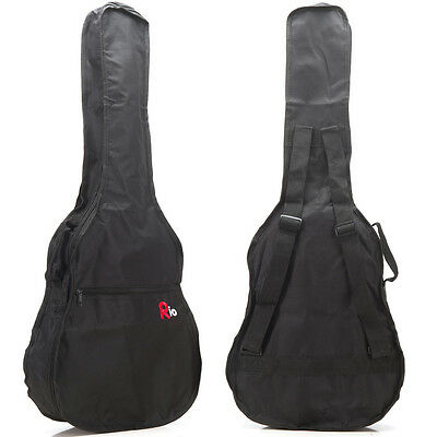 Rio 4/4 41'' Full Size Dreadnought Acoustic Guitar Gig Bag Carry Case Gigbag New