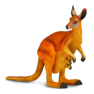 RED KANGAROO with JOEY AUSTRALIAN  TOY MODEL by CollectA 88302 *New with tag*