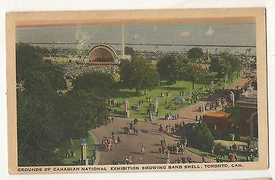 Grounds of Canadian National Exhibition, Band Shell TORONTO ON Vintage Postcard