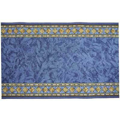 New HALLWAY RUNNER Carpet CHEOPS Hall Rug Rubber Back 67cm NEW BLUE by the metre