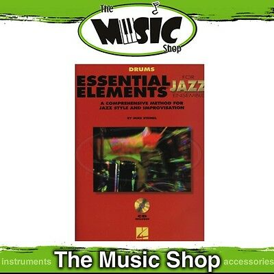 New Essential Elements for Jazz Ensemble: Drums Book & CD