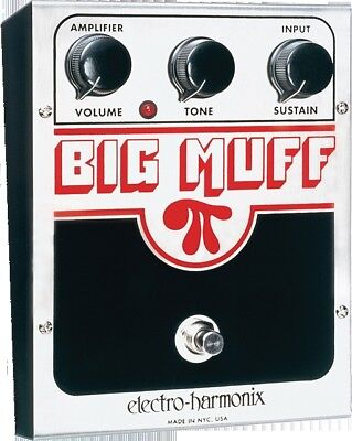 EHX Electro Harmonix Big Muff Distortion Sustain Guitar Effects Pedal