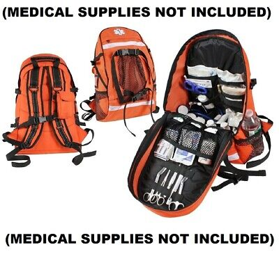 Orange Tactical EMS Law Enforcement First Aid Trauma Kit Backpack 2345